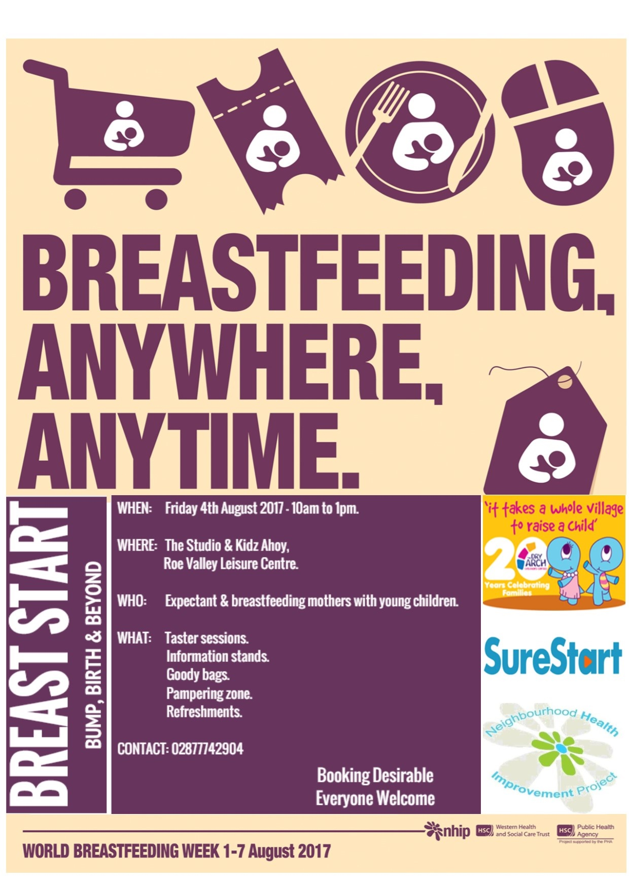 6854b75da4 Breastfeeding Event this Friday – Celebrating World Breastfeeding Day